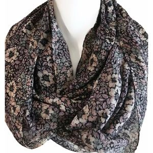 Chaps Multicolor Floral Pattern Infinity Scarf NWT